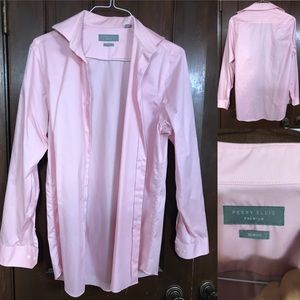 Kenneth Cole Dress Shirt: Pink 15.5/34/35